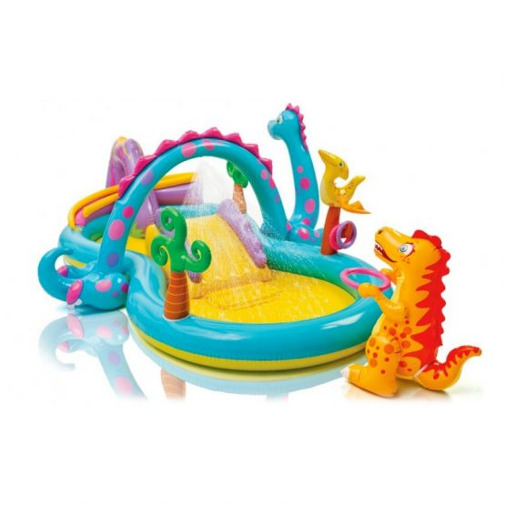 Intex Inflatable Dinoland Play Center With Sprayer Swimming Pool