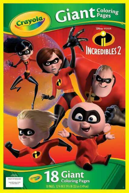 Crayola Incredibles 2 Giant Coloring Book 18 Pages