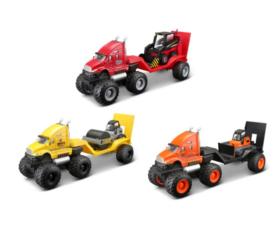 Maisto Builder Zone Quarry Haulers – Color & Style May Vary
