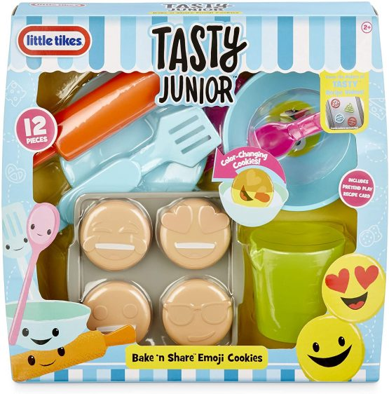 Little Tikes Tasty Jr. Bake 'N Share Emoji Cookies Role Play Activity Pack