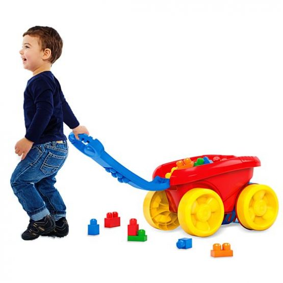 First Builders Block Scooping Wagon