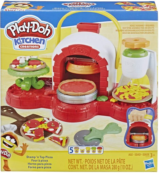 Play-Doh Stamp 'n Top Pizza Baking Toy with 5 Non-Toxic Colors
