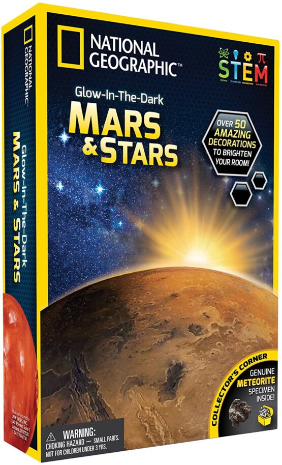 NG Glow in the dark 3D Mars and Stars