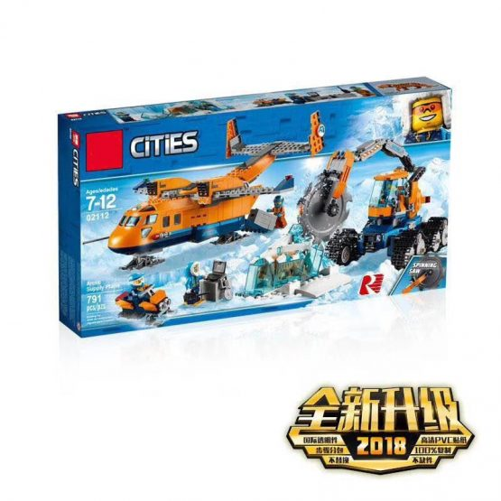 LEPIN Cities Blocks Set – Arctic Supply Plane Mainan Anak Building