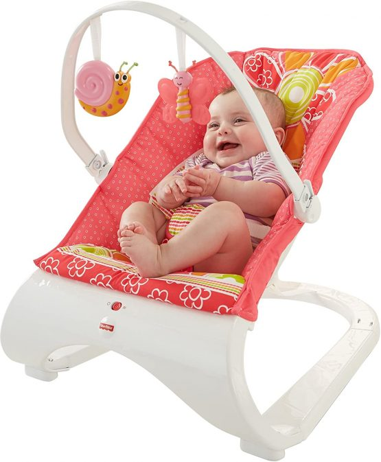 Fisher Price CHN07 Comfort Curve Bouncer Floral Confetti