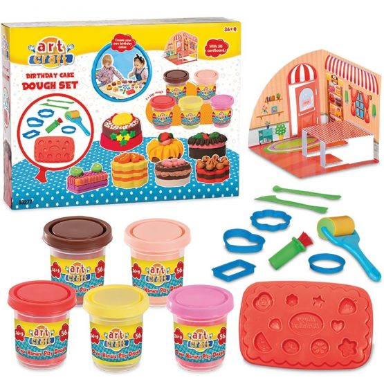 DeDe 3277 Baby Art And Birthday Cake Dough Set