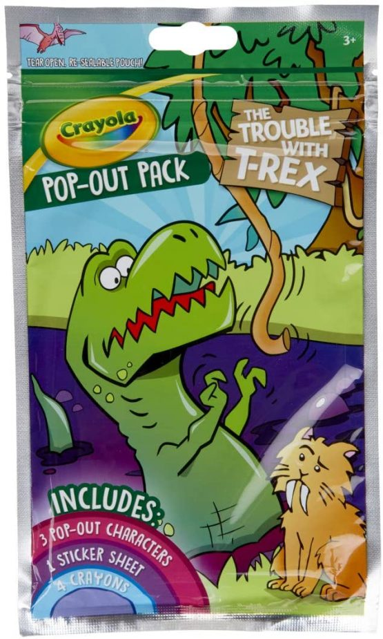 Crayola 040681 Dinosaur Coloring Activity Pop Out Characters
