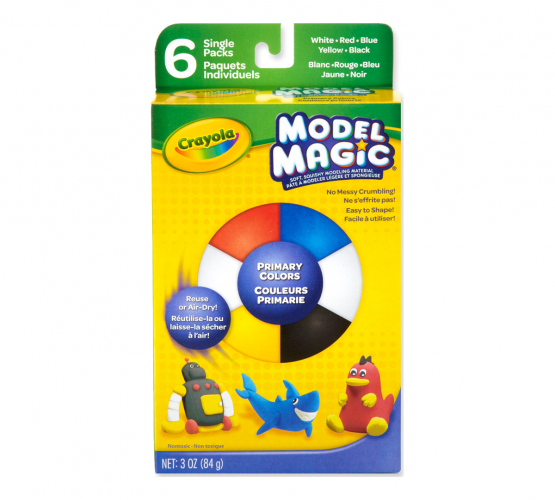 Crayola 232404 Model Magic Secondary Colors Pack of 6