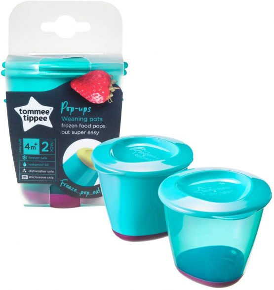 Tommee Tippee 446502 POP UP WEANING POT (PACK OF 2)