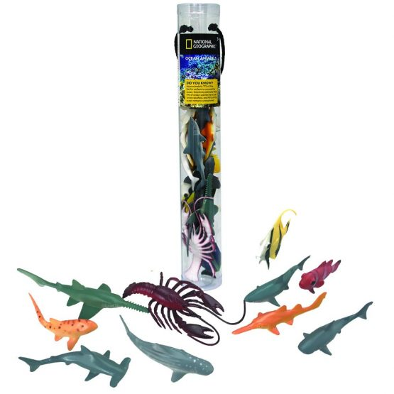National Geographic D6304 13 PCS Ocean Animals iN Tube