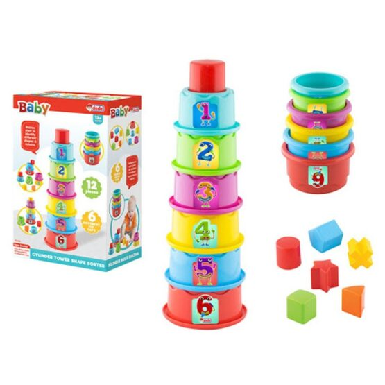 DEDE 3465 Cylender Tower Dough Play Set