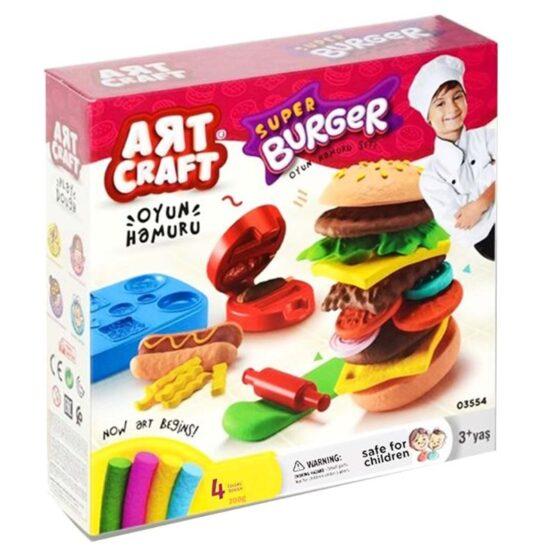 DEDE 3554 Hand Press Hamburger Dough Play Set