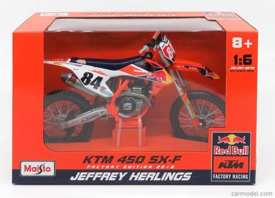 Maisto 32228 Red Bull 1:6 Morotorcycle 450SX-F