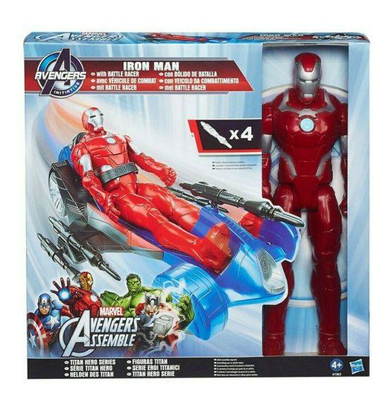 Hasbro A7363 Iron Man Figure W-Battle Racer for Kids